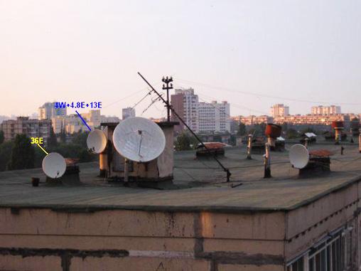 Установка спутниковой антенны по карте