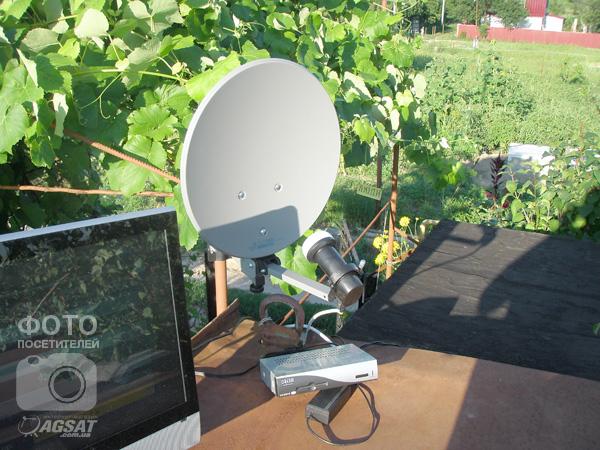 портативная спутниковая антенна на даче