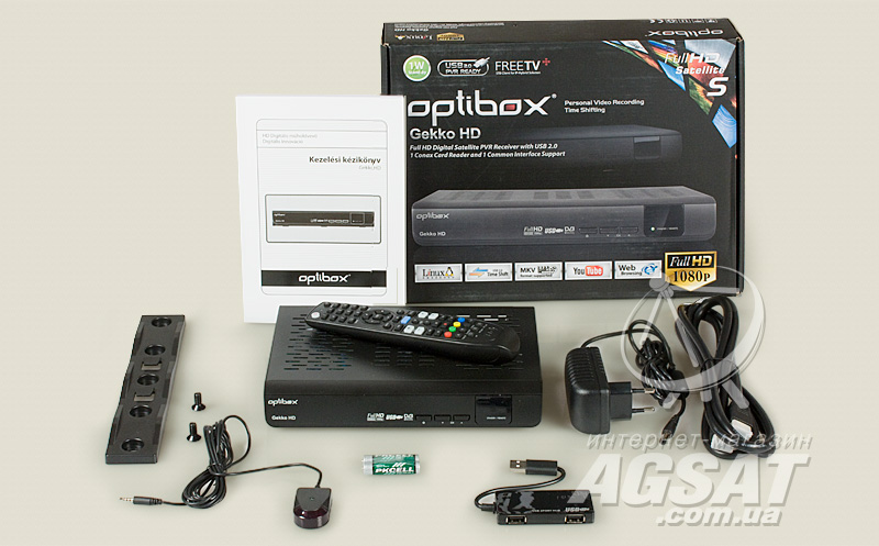 комплектация Optibox Gekko HD
