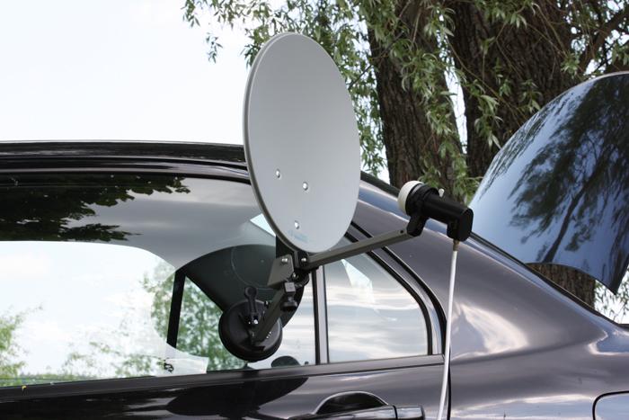 Тестирование портативной спутниковой антенны