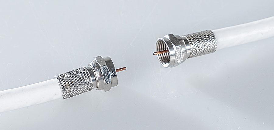 коннектор на телевизионный кабель