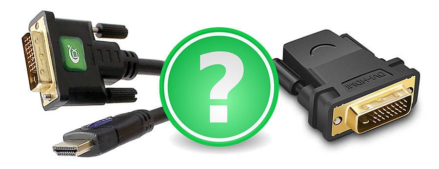 HDMI-DVI переходник или кабель