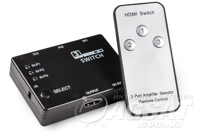 HDMI SWITCH 3/1 Mini+IR фото