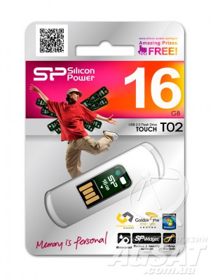 USB Flash Silicon Power Touch T02 16Gb фото